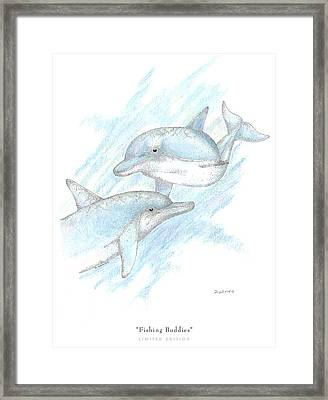 Fishing Buddies Framed Print by David Weaver