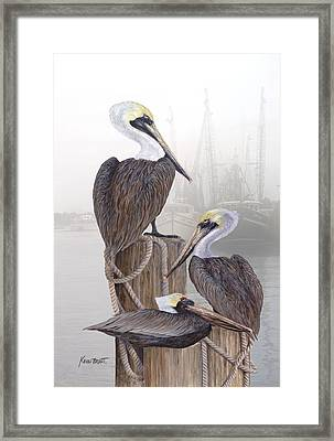 Fishing Buddies Framed Print by Kevin Brant
