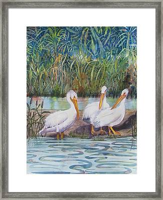Framed Print featuring the painting Fishing Buddies by Martha Ayotte