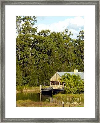 Fishing Cabin Framed Print