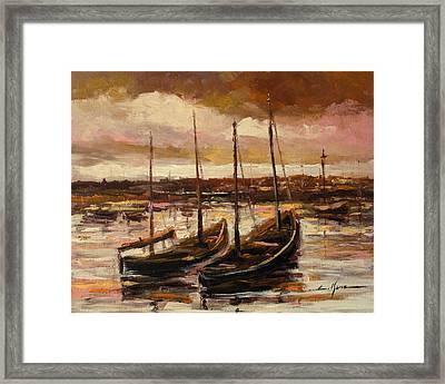Fishing Cutters  Framed Print