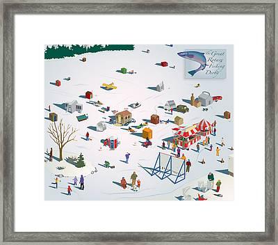Fishing Derby Framed Print by Marian Federspiel