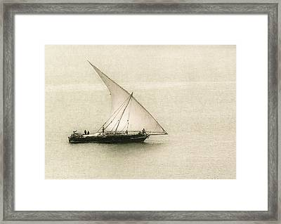 Fishing Dhow Framed Print by Patrick Kain