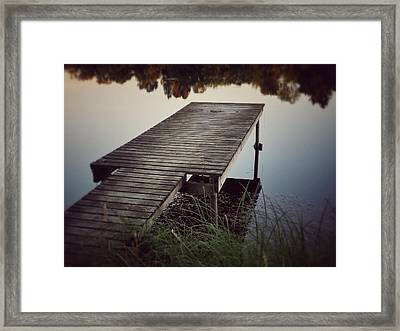 Framed Print featuring the photograph Fishing Dock by Karen Stahlros