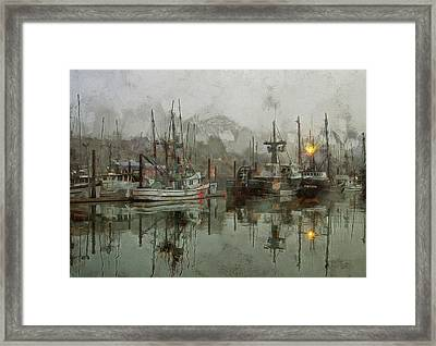Fishing Fleet Dock Five Framed Print