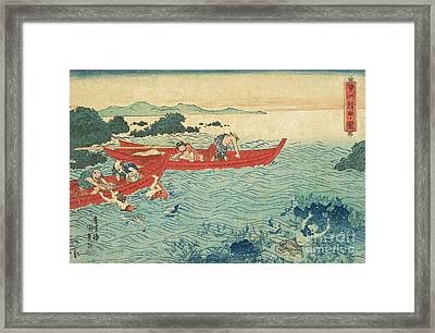 Fishing For Abalone Framed Print