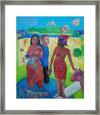 Fishing For Chance Answers Framed Print by Richard Heley