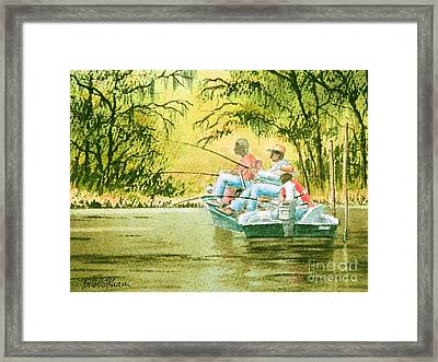 Fishing For Mullet Framed Print