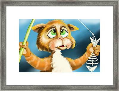 Fishing For Nothing Framed Print by Hank Nunes