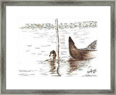 Fishing For Shellfish Framed Print by Remy Francis