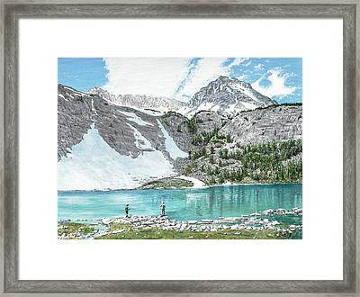 Fishing Gem Lake Framed Print