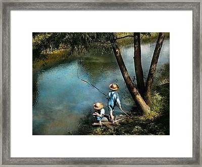 Fishing - Gone Fishin' - 1940 Framed Print