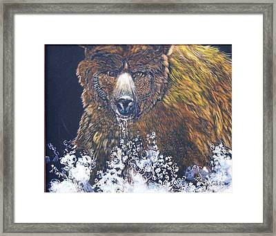 fishing Grizzly SOLD Framed Print