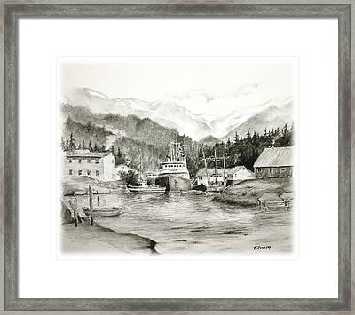 Fishing Harbor Framed Print