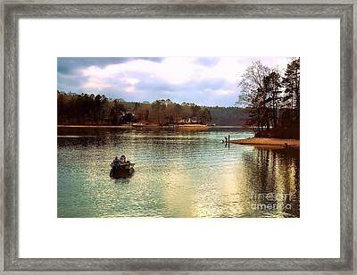 Framed Print featuring the photograph Fishing Hot Springs Ar by Diana Mary Sharpton