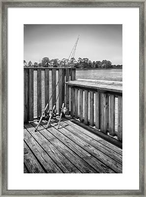 Framed Print featuring the photograph Fishing by Howard Salmon