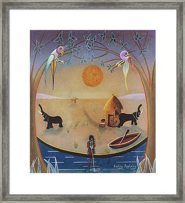 Fishing Hut  Framed Print by Sally Appleby