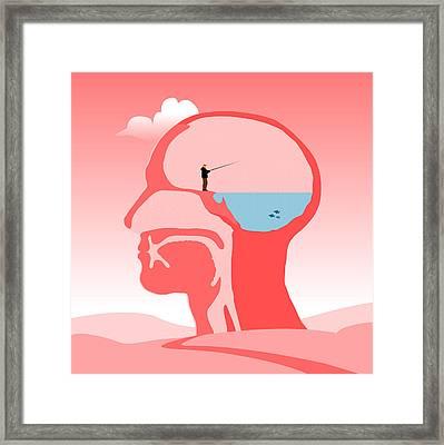 Fishing Ideas Framed Print by Nestor PS