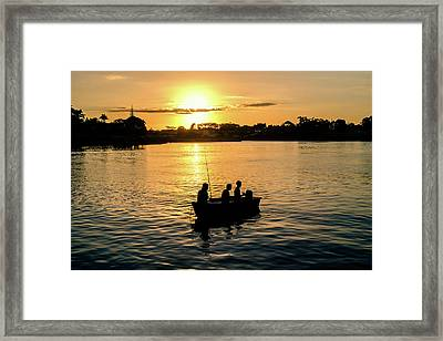 Fishing In Auckland Framed Print