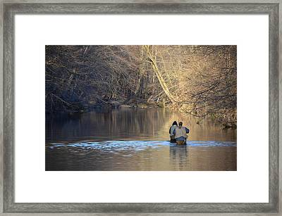 Fishing In Chester Creek Framed Print by Bill Cannon