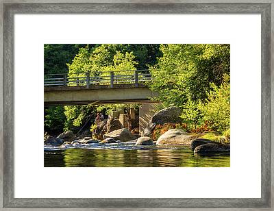 Fishing In Deer Creek Framed Print by James Eddy