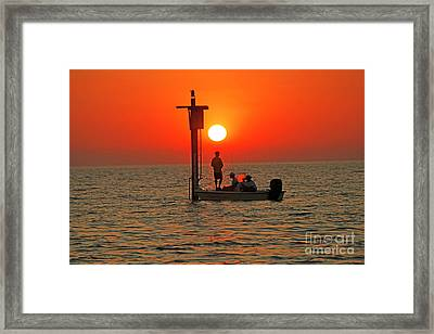 Fishing In Lacombe Louisiana Framed Print