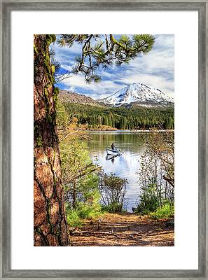 Framed Print featuring the photograph Fishing In Manzanita Lake by James Eddy