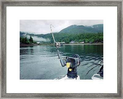 Fishing   In Se Alaska Framed Print by Judyann Matthews