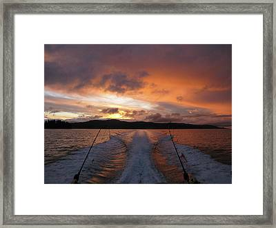 Fishing In The Sun Framed Print