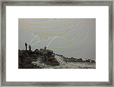Fishing In The Twilight Zone Framed Print