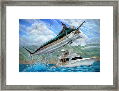 Fishing In The Vintage Framed Print