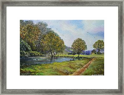 Fishing In The Wye Valley Framed Print by Andrew Read