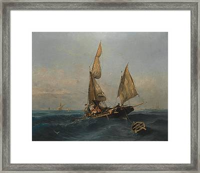 Fishing In Troubled Waters Framed Print by MotionAge Designs