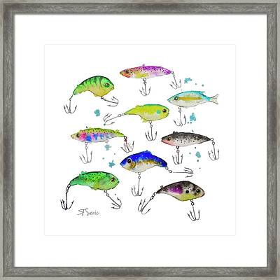Fishing Is Fly No3 Framed Print by Roleen  Senic