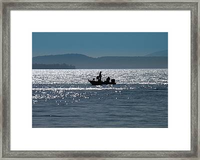 Fishing Lake Champlain Framed Print
