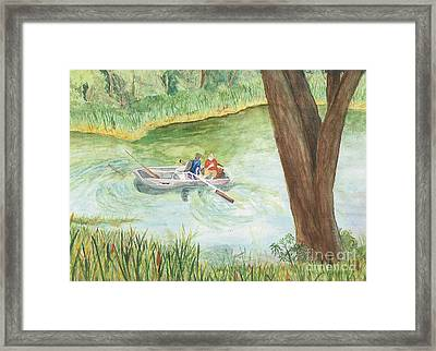 Framed Print featuring the painting Fishing Lake Tanko by Vicki  Housel