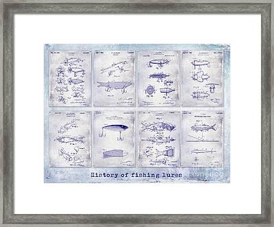 Fishing Lure Patent History Framed Print by Jon Neidert
