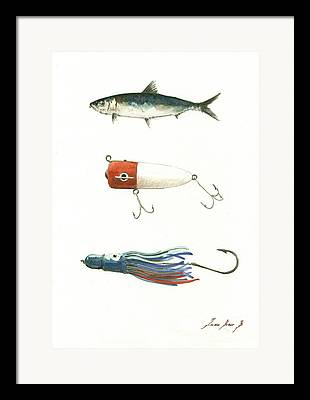 Saltwater Fishing Framed Prints