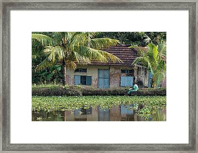 Fishing Framed Print by Marion Galt