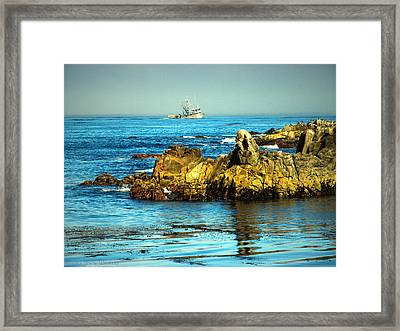 Fishing Monterey Bay Ca Framed Print