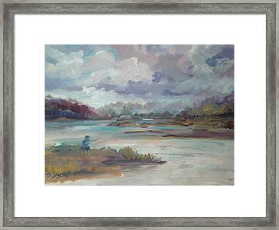 Fishing Near Rose Bay Florida Framed Print by Marilyn Masters