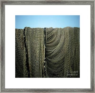 Fishing Net Framed Print by Bernard Jaubert