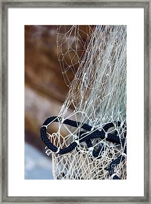 Fishing Net Details - Rovinj, Croatia Framed Print