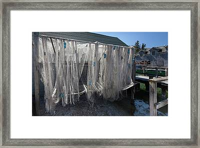 Framed Print featuring the photograph Fishing Net by Fran Riley