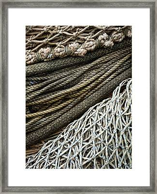 Fishing Nets Framed Print by Carol Leigh
