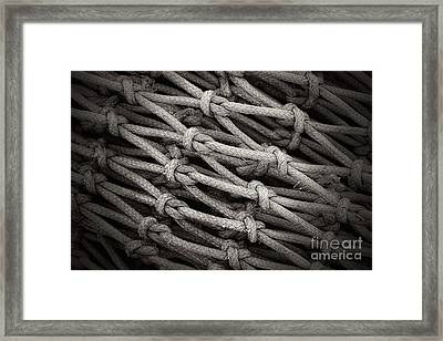 Fishing Nets Framed Print by Clare Bevan