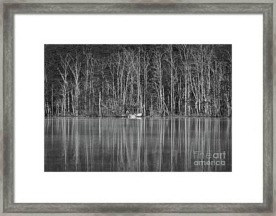 Fishing Norris Lake Framed Print