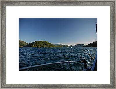 Fishing Off Hisnit Inlet Framed Print