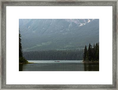 Fishing On Pyramid Lake Framed Print
