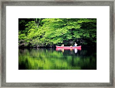 Fishing On Shady Framed Print by Lana Trussell